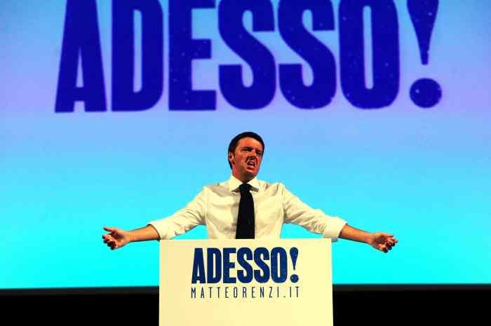 Verona, 13/09/2012 Inizio tour elettorale per le primarie del centrosinistra per il candidato premier Matteo Renzi. Foto Matteini/Infophoto