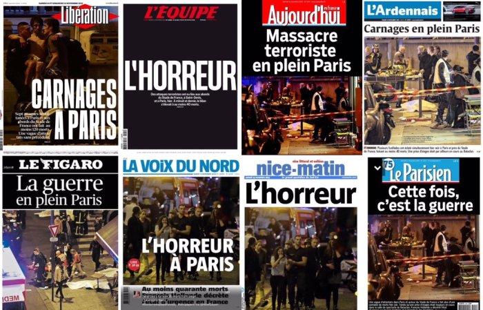 Le prime pagine dei maggiori giornali francesi