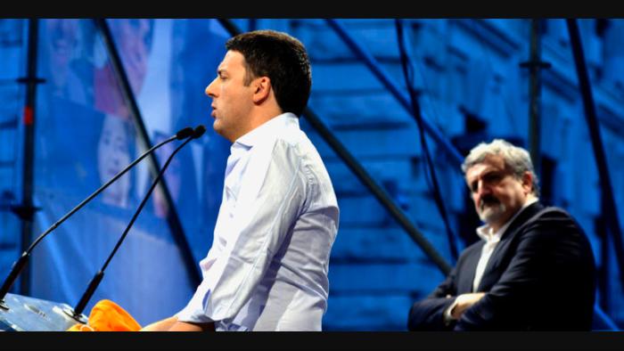 Matteo Renzi e Michele Emiliano
